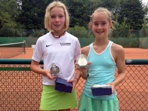 Erfolgreiche Spieler/innen des Tenniskreises bei den Jugend-Bezirksmeisterschaften